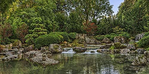 MX-XXUOUO Puzzle 1000 Stück für Erwachsene Kinder-Deutschland Augsburg Japanese Garden Natur Wasserfall Teich-Deutschland Reisesouvenirs-27.6
