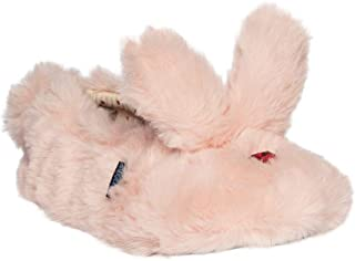 Toddler Girl's Pink Fuzzy Bunny Slippers Shoes