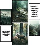 Papierschmiede® Mood-Poster Set Mystic Forest | Bilder als