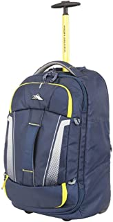 High Sierra Composite V3 Upright Wheeled Duffle 56Cm Navy-Yellow - in