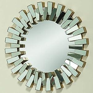 Boltze Liberty Espejo de Pared Alrededor Oro - Espejos de Pared (Universal, Alrededor, Oro, CE, 50 cm, 500 mm)