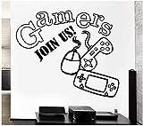 Desmontable Videojuego De Videojuegos Joystick Sala De Juegos Para Niños Vinilo Calcomanía Adhesivo Papel Tapiz Niño Dormitorio Decoración Etiqueta De La Pared 58X68Cm