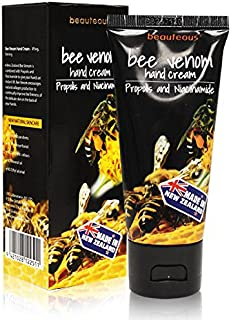beauteous New Zealand Bee Venom Hand Cream with Propolis and Niacinamide, All Natural Ingredients, Moisturizing, Anti-Aging