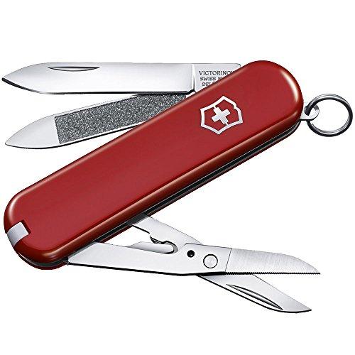Victorinox Taschenmesser Executive 81 (7 Funktionen, Nagelfeile, Schere mit Mikro-Zahnung) rot