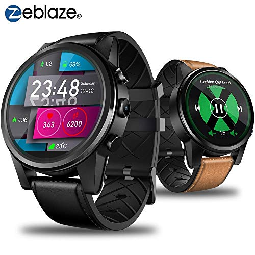 Zeblaze THOR 4 PRO 4G, Reloj Inteligente con GPS de 1.6 Pulgadas, con Mapa Deportivo, Quad Core, 16G, Pantalla táctil de Color WiFi, Android Smart Watch (Negro)