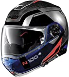 NOLAN N100-5 Consistency N-COM Scratched Chrome XL Casco, Hombre