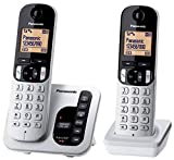 Panasonic KX-TGC222ALS Digital DECT Cordless Phone & Answering System with 2 handsets, Silver