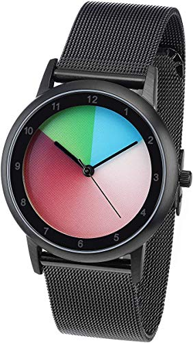 Rainbow e-motion of color Avantgardia Classic Unisex Uhr Analog Quarz mit Edelstahl...