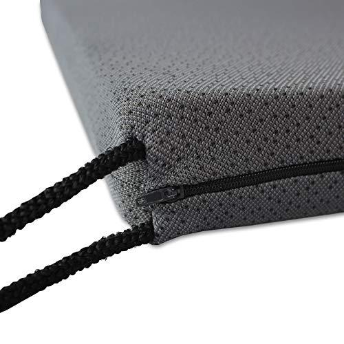 Merino BETTEN Ergonomisches Bürostuhlsitzkissen ohne Noppen   Sitzunterlage für optimalen Sitzkomfort   Orthopädisches Sitzkissen für Bürostuhl   43 x 45 x 5 cm