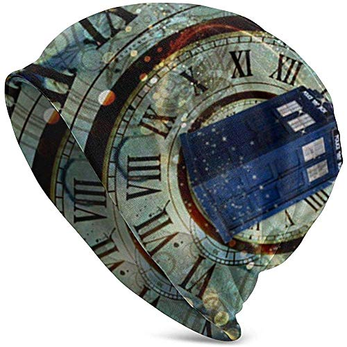 Doctor Dr Who Police Box Ratones Diseño Personalizado Cool Gaming Mousepd Mouse Pad Mat 12 Knit Beanie Hat Cap Gorras de Invierno Sombreros Cuffed Skull Cap