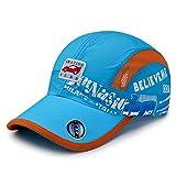 LZBDKM Baseball cap[AETRENDS] Mesh Rose Girl Cap Hat Boy Motocross Band Hat Snapback Hip Hop 7~12 Years Kids Z-6512Light Blue