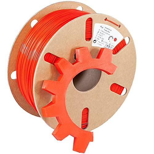 Ring Industrial Filaments | 3D Drucker Filament PLA 1.75 mm | 1kg Verkehrsrot ca. RAL 3020 | rot
