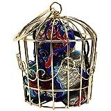 ABOOFAN Frauen Kette Umhängetasche Eisen Hohlkäfig Clutch mit Vogelkäfig Hosenträger Neuheit Ethnischen Stil Umhängetasche Geschenk für Frauen Mädchen Geburtstag (Blau)
