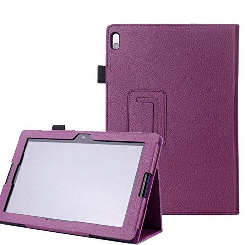 Lobwerk Tasche für Lenovo IdeaTab A10-70 10.1 Zoll Schutz Hülle Flip Tablet Cover Hülle A7600-H F L (Lila) NEU