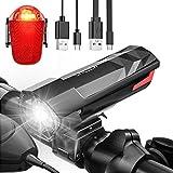 CHICLEW Fahrradlicht, Fahrradbeleuchtung LED Set USB Aufladbar, IPX5 Wasserdicht Fahrradlichter Set StVZO Zugelassen, 2200mAh Akku Fahrradlampe mit 3 Licht-Modi