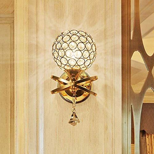 Lámpara de Pared con Bola de Cristal, luz Moderna, de Lujo, Pasillo, Restaurante, Sala de Estar, Dormitorio, Estudio, 13 * 25 cm