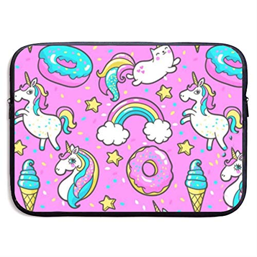 Gao808yuniqi Cute Unicorn Kawaii for Girls Laptop Sleeve Shoulder Bag for Women, Protective Carrying Case Compatible with 13-15 Inch MacBook Pro, Air, Notebook,Slim Sleeve