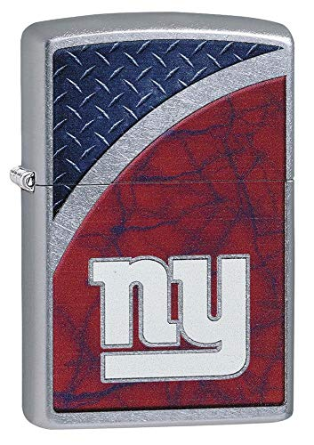 Zippo NFL New York Giants Street Chrome Pocket Lighter, One Size