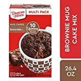Duncan Hines Mug Cakes, Brownie Mix, 26.4 oz (10 Individual 2.6 oz Pouches)