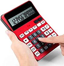 $46 » Yusuo 12-Digit Voice Calculator for Business Office Exams with LCD LCD Large Battery Display Office Basic Calculator (Color : Red, Size : 17.5x12.4cm)