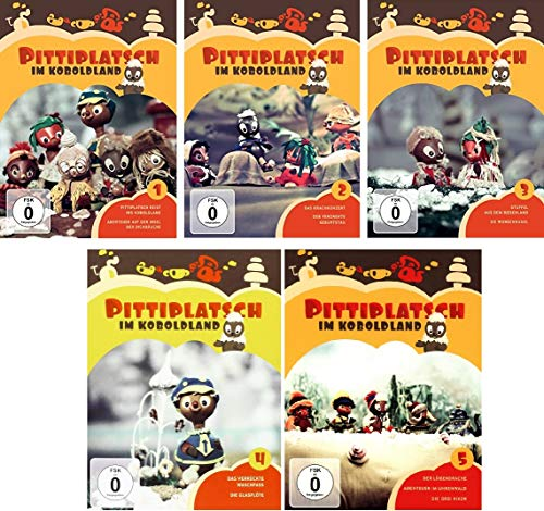 Pittiplatsch im Koboldland - Volume 1+2+3+4+5 im Set - Deutsche Originalware [10 DVDs]