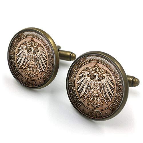 Antike Bronze Vintage Münze Manschettenknöpfe  Münze Manschettenknöpfe  Münze Manschettenknöpfe  Manschettenknöpfe  Münzen Schmuck  Trauzeugen Geschenk  Geschenk für Männer  Geschenk für i