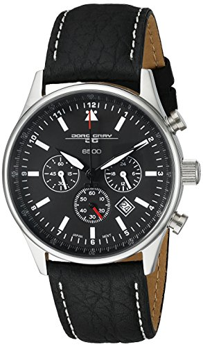 Jorg Gray Men's JG6500 Analog Display Quartz Black Watch