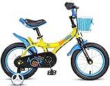 BANANAJOY Primavera Verano Viajes Bicicletas for niños Apto for Bicicletas for niños Jardín al Aire Libre Bicicleta for niños Muchacho Practicar usando Bicicleta 3~12 años / 18 Pulgadas (Color: Azul