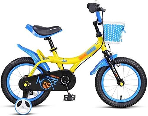 MYERZI Absorción de Impacto Primavera Verano Viajes Bicicletas for niños Apto for Bicicletas for niños Jardín al Aire Libre Bicicleta for niños Muchacho Practicar usando Bicicleta 3~12 años / 18 pul