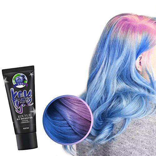 50 ml Haarfärbemittel-Creme, natürliche thermochrome, temperaturaktivierte Haarfarbe DIY-Farbstoff, farbwechselnder Haarfarbstoff, magischer Farbstoff für Cosplay Halloween Festival Party