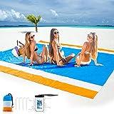 Beach Blanket Sand Free, Beach Mat Sand Proof Ourdoor Picnic Blankets Portable Waterproof