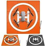 SYMIK LP570 Drone Landing Pad (3x3 fold) Double-Sided Waterproof 22.5 inch (57cm) Fast-Fold Helipad, Perfect for DJI Mavic Air 2, Compatible w/Mavic Mini 2, Mavic 2 Pro, Zoom, Mavic 3, Phantom Series