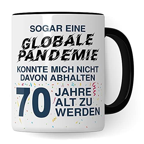 70. Geburtstag Männer Tasse, Geschenk 70 Geburtstag Mann, Becher 70 Jahre alt Werden Spruch Kaffeebecher Geschenkidee, Kaffeetasse 1951 Jahrgang Geburtstagsgeschenk Witz 2021