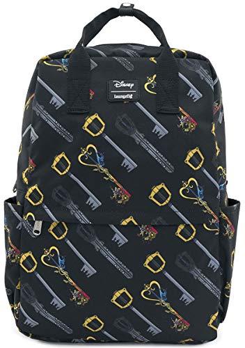 Loungefly Disney Kingdom Hearts Keys AOP Square Nylon Backpack - WDBK0986