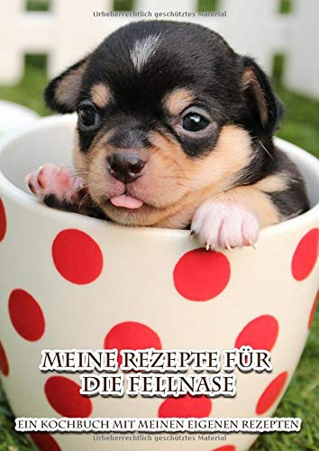 Meine Rezepte für die Fellnase | Ein Kochbuch mit meinen eigenen Rezepten: Kochen und Backen für den Hund - eigene Rezepte kreieren und aufschreiben | ... Hundebesitzer und Hundefreunde | Rezeptbuch