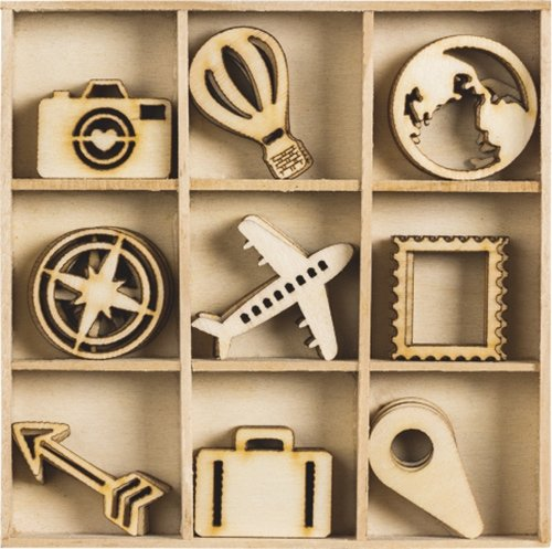 KNORR prandell - Set di 45 decorazioni da viaggio