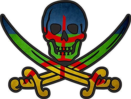Akachafactory sticker piraat piraten Jack Rackham Calico vlag vlag Berber amazigh