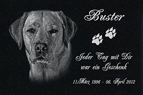 GRANIT Grabstein - Grabplatte - Grabschmuck mit der Lasergravur des Motives