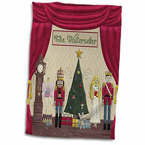3dRose Schiaccianoci Prince, Zucchero Prum Fairy, Mouse King Regina, Snow Queen, Asciugamano per orologio, multicolore, 38,1 x 55,9 cm