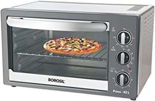 Borosil - BOTG42CRS14 Prima 42 L OTG, With Motorised Rotisserie And Convection, 2000 W, 6 Stage Heating Function, Silver