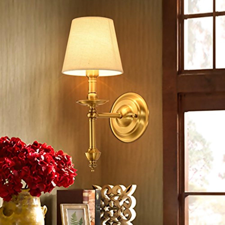 LJL Amerikanischen Lndlichen Kupfer Wand Lampe Schlafzimmer Lampe Nachttischlampe Spiegel Lampe Retro Einfache Wohnzimmer Lampe Einzigen Kopf Lampe