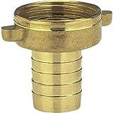 Gardena Messing-Schlauchverschraubung 2-teilig: Verschraubung aus hochwertigem Messing, 33.3 mm (G 1 Zoll)-Gewinde, für 25 mm (1 Zoll)-Schläuche (7142-20)