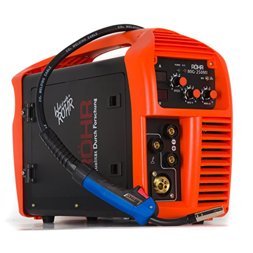 MIG/ARC Welder Inverter Gas/Gasless MMA 3-in-1 IGBT 240V 250 amp DC - Röhr...