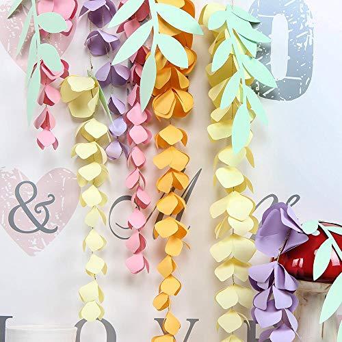 WHRP-decoration Decoración De Papel Bricolaje Papel Colgante Glicina Papel Flor Guirnalda Rama Decoración Pascua Boda Vivero Primavera Cumpleaños Fiesta Telón De Fondo
