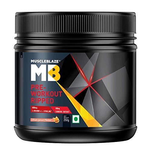 MuscleBlaze Pre-Workout Ripped-250g (Fruit Splash)