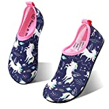 hiitave Girls Swim Water Shoes Non-Slip Quick Dry Barefoot Beach...
