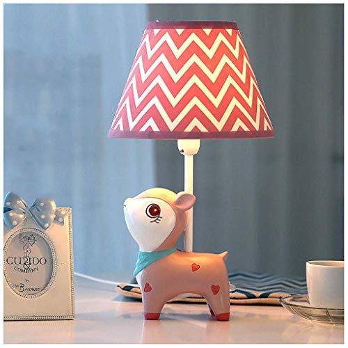 Miss You Pink Fawn LED Tischlampe liegend warm und romantisch Kinderzimmer niedliche Prinzessin Mädchen (roter Streifen)