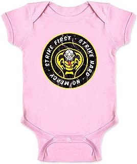 Cobra Kai Dojo Circle Logo Retro Martial Arts Infant Baby Boy Girl Bodysuit