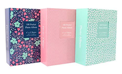 Tallon 6x4 Designer - Álbum de fotos con 100 bolsillos, multicolor