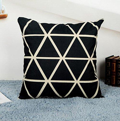 Longless Simple Noir et Blanc Oreiller Nordique Office de canapé, Coussin Oreiller de Voiture